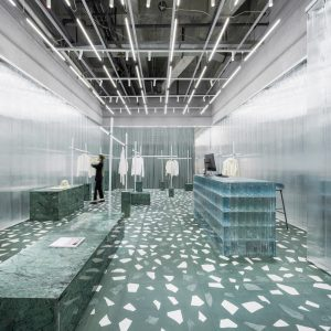 Retail design Mineral surprenant - Retail Tour Chine